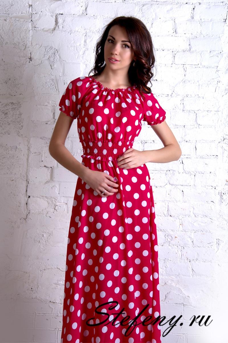 Фото платьев в красный горошек