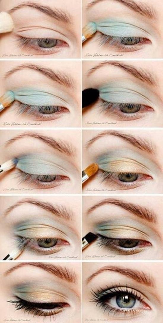 Дневной макияж для зеленых глаз пошаговое с описанием
