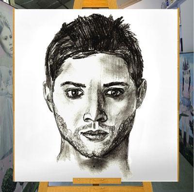 Как сделать из портрет карандашом