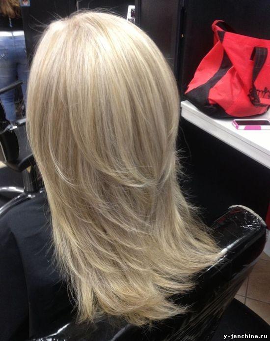 Стрижки на длинные волосы лесенка вид сзади