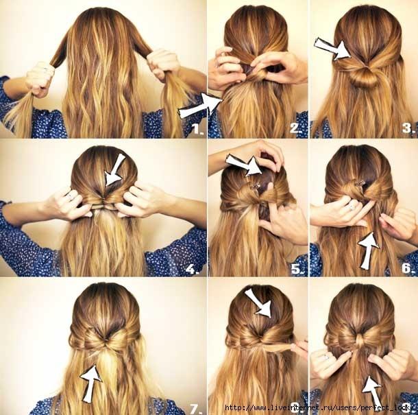 Быстрая причёска на длинные волосы фото пошагово