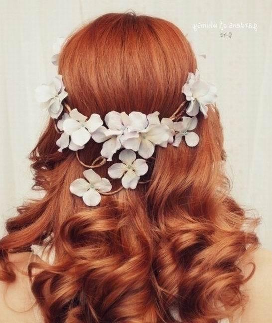 Причёски на рыжих волосах