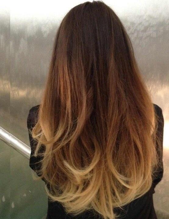 Как сделать омбре окрашивание волос брюнетки поэтапно