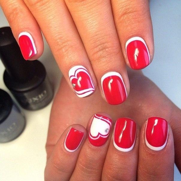 Дизайн ногтей красных 2017-2018
