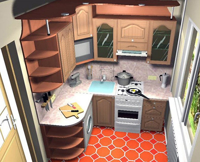 Дизайн кухни на 6 метрах