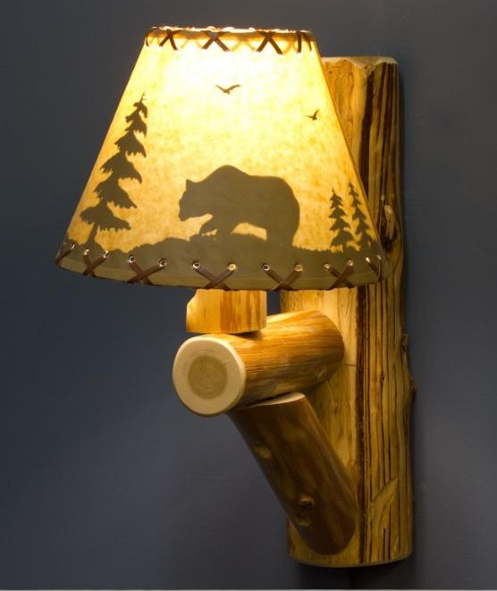 Сделать своими руками из дерева светильник