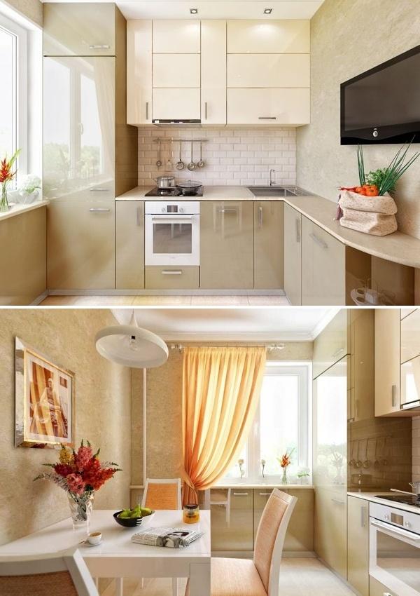 Дизайн кухни до 11 кв м