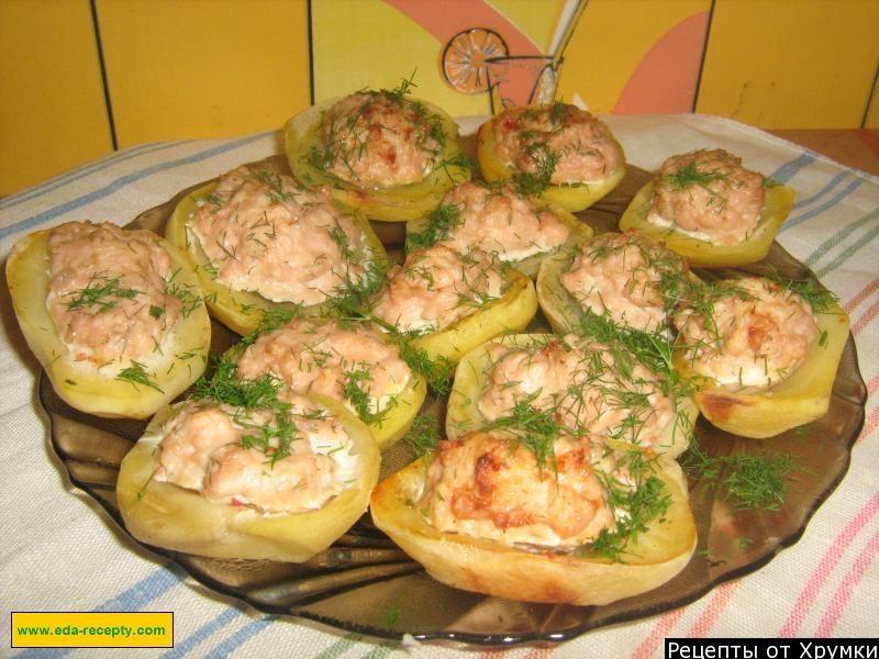 Блюдо из картофеля и фарша в духовке фото