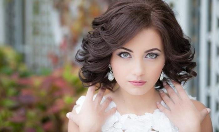Прически на волосы короткие свадебные