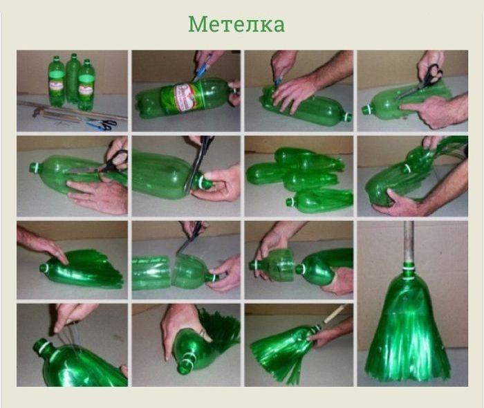 Как еще сделать веник с пластиковой бутылки