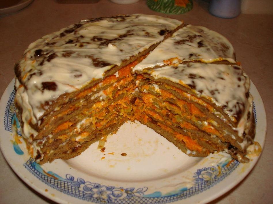 Торт печеночный из говяжьей печени пошаговый рецепт с фото