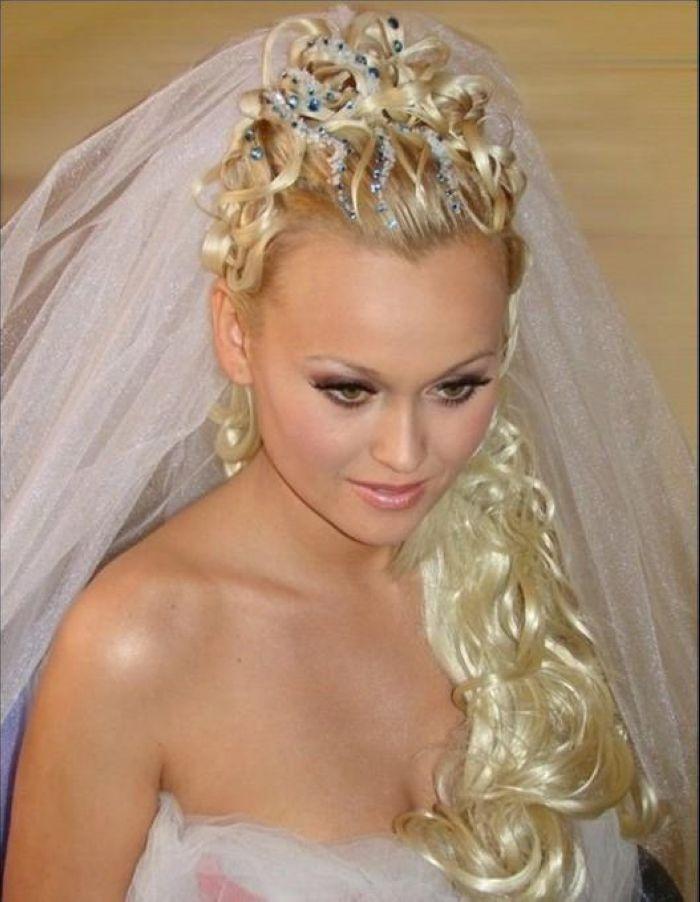 Прически свадебные новинки