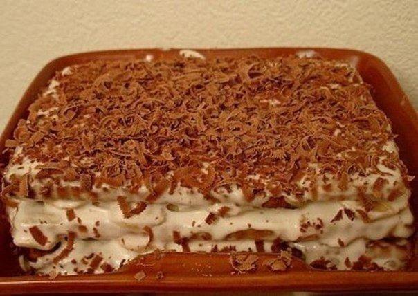Торт из печенья с выпечкой рецепт с пошагово