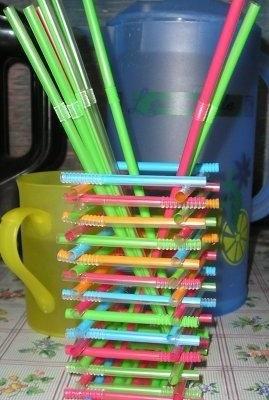 Поделки из трубочек для коктейля своими руками для детей