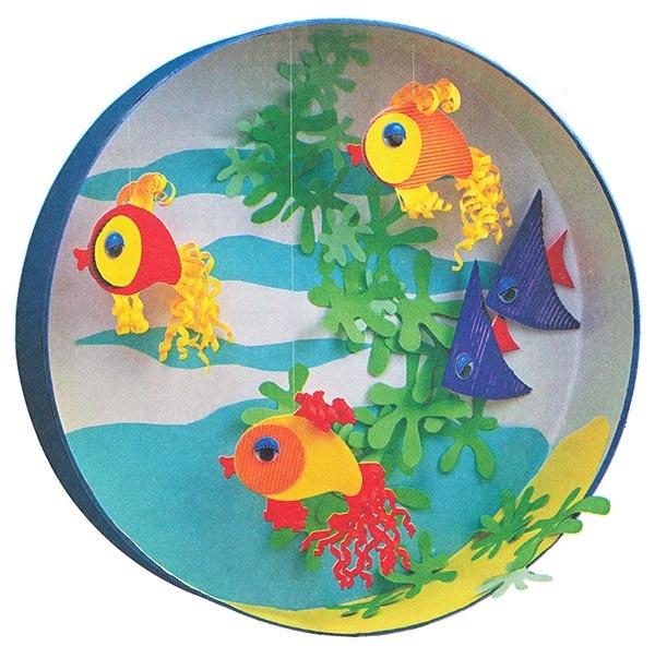 Аппликация аквариум своими руками