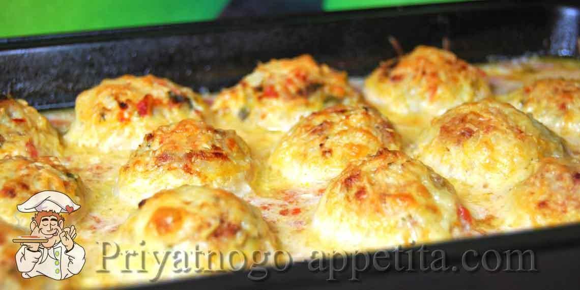 Тефтели в духовке в сметанном соусе рецепт пошаговый рецепт с фото