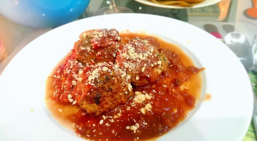 Тефтели в томатном соусе рецепт с фото в мультиварке
