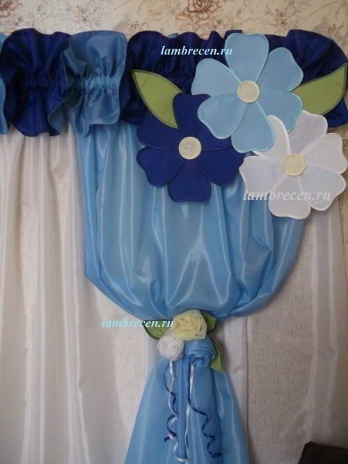 Цветы из ткани своими руками на шторы