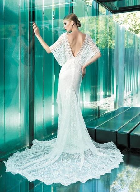 Свадебное платье летучая мышь