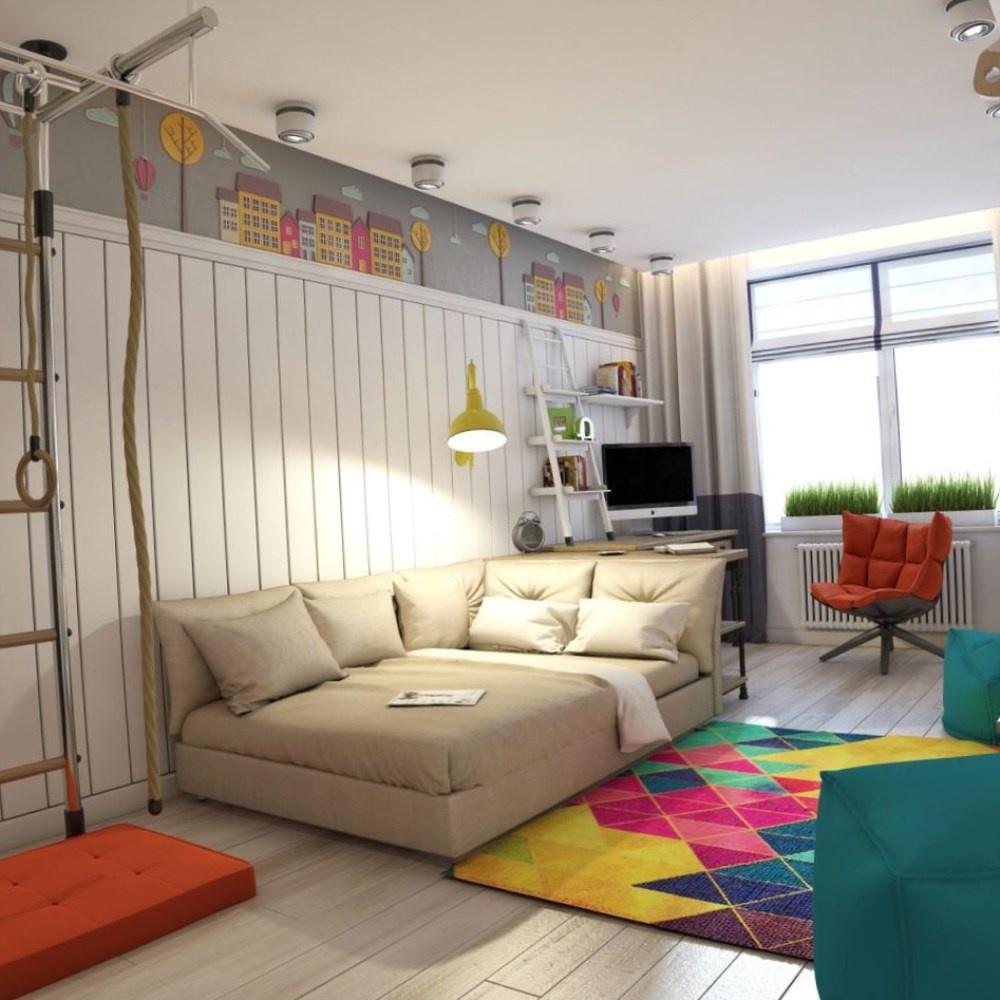 Детская комната для мальчика школьника дизайн