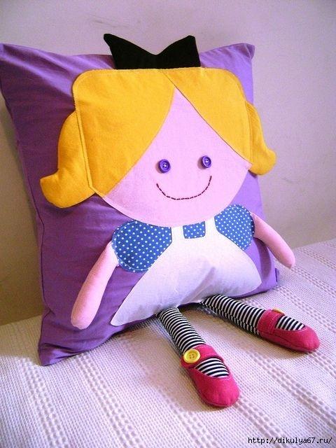 Подушка детская своими руками сшить