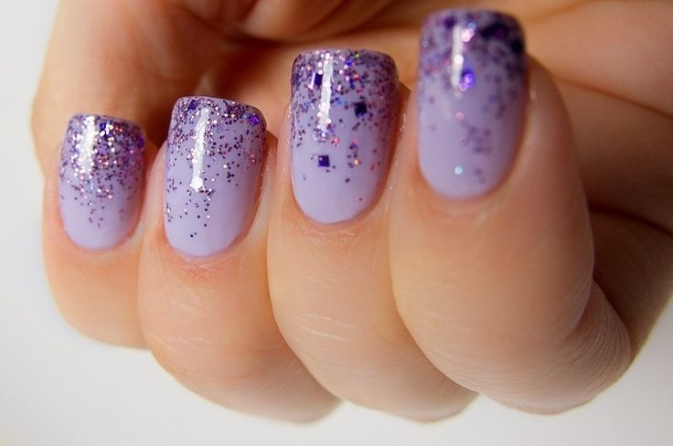 Как наносить блестки на ногтях в домашних условиях
