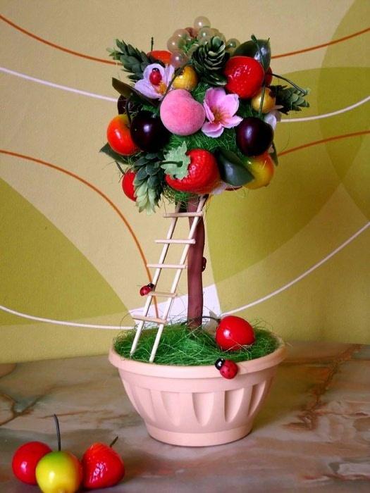 Топиарий фруктовые деревья своими руками