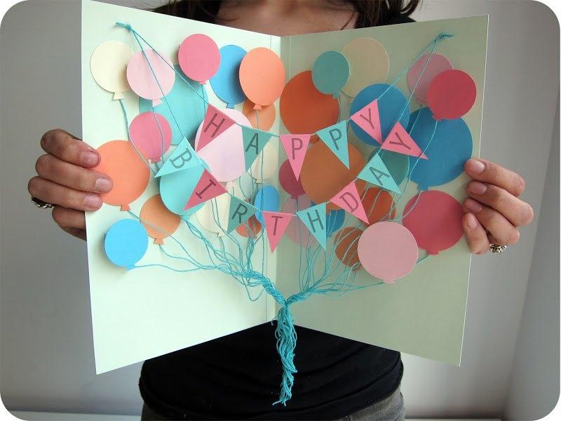 Открытки сделанные с днем рождения
