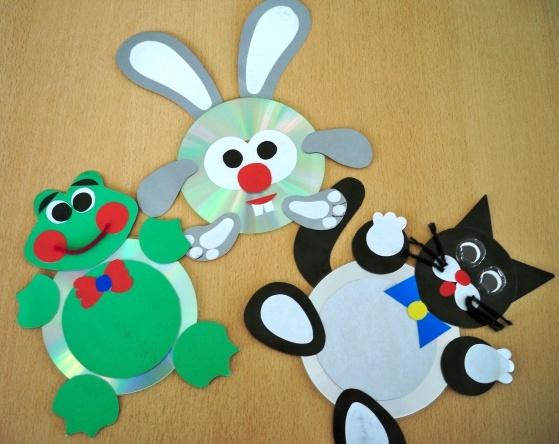Поделки для детского сада из сд дисков