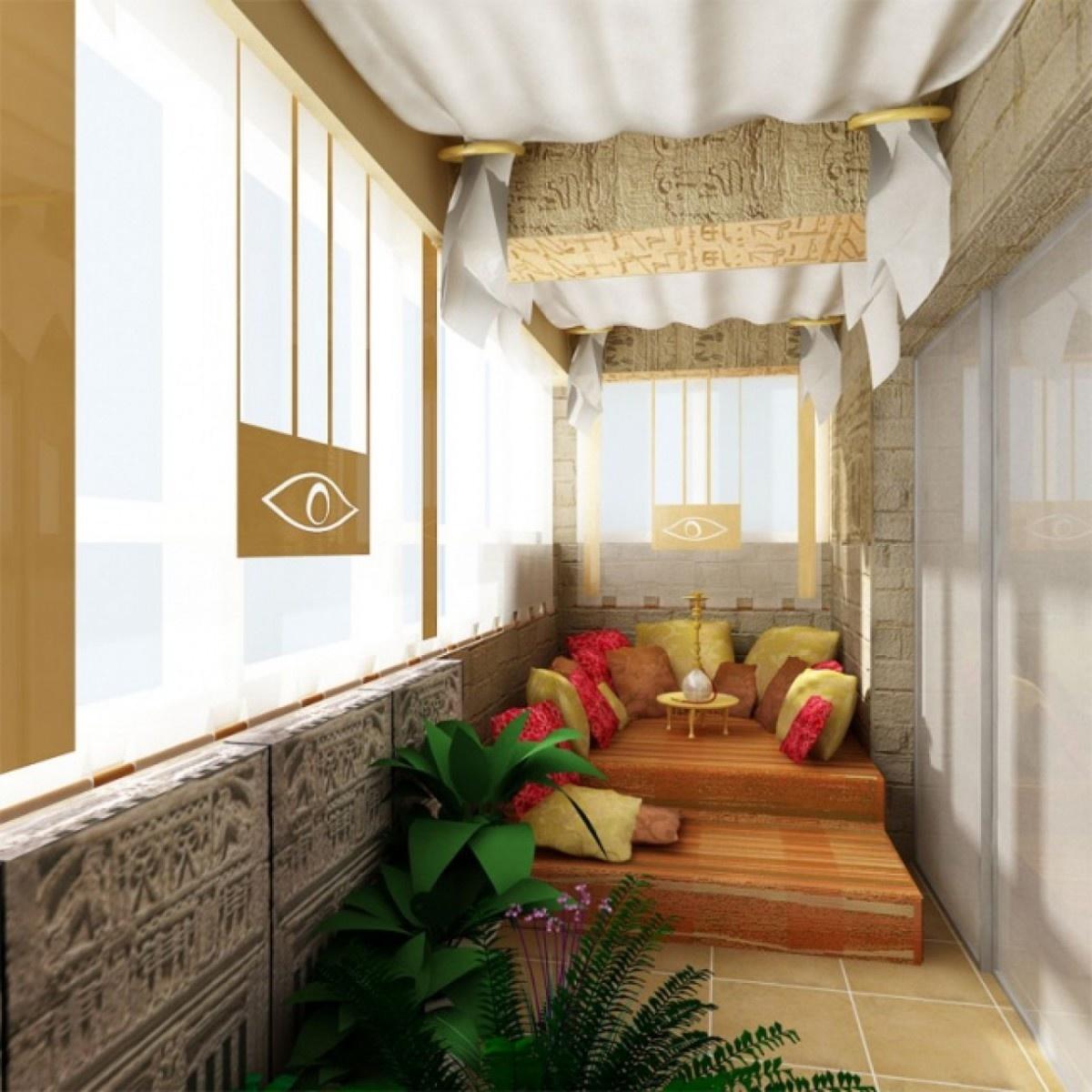 Дизайн балкон в восточном стиле..