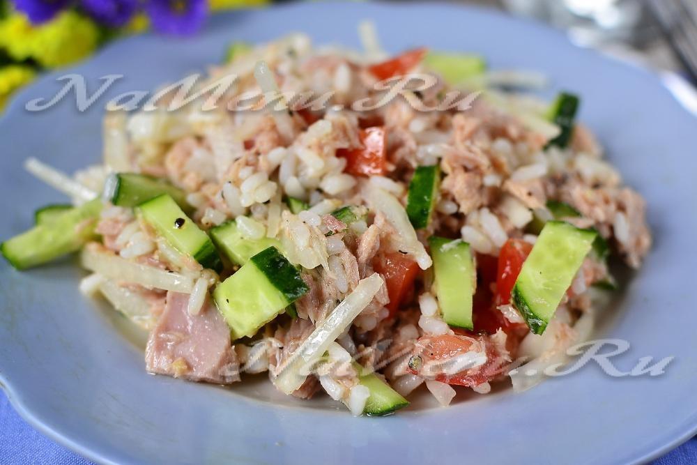 Салат с тунцом консервированным без майонеза рецепт с пошаговым фото
