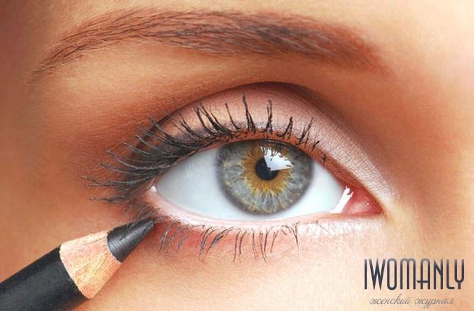 Фото как красить маленькие глаза
