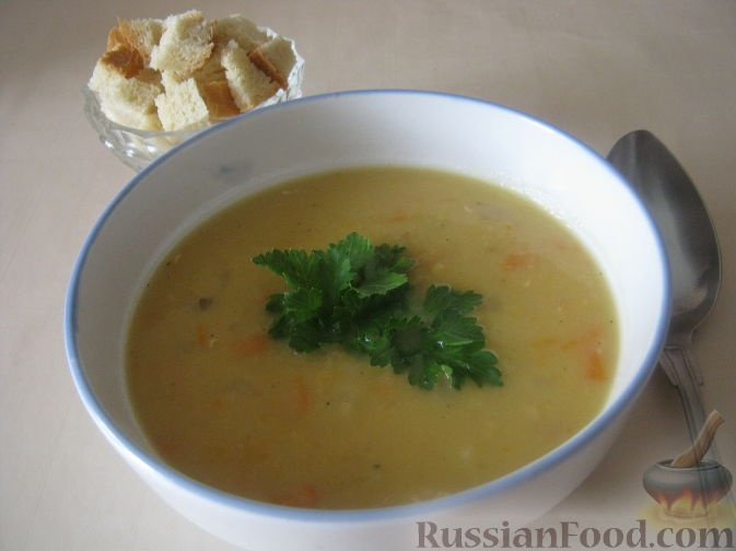Пошаговый рецепт с фото суп гороховый с копченостями