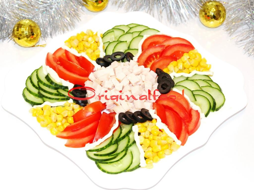 Простые салаты на праздничный стол без майонеза рецепты