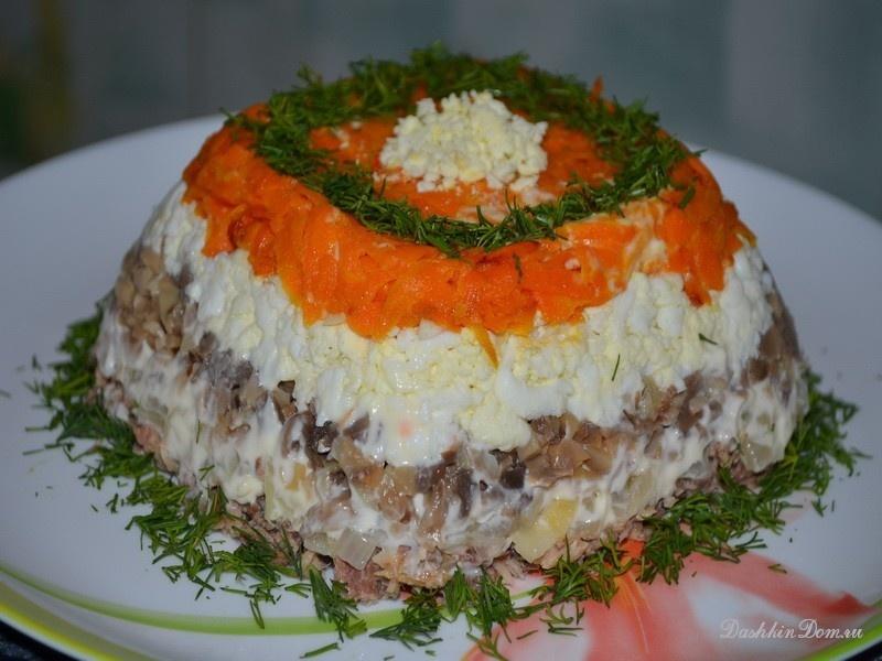Салаты рецепты с простые и вкусные с курицей и морковью