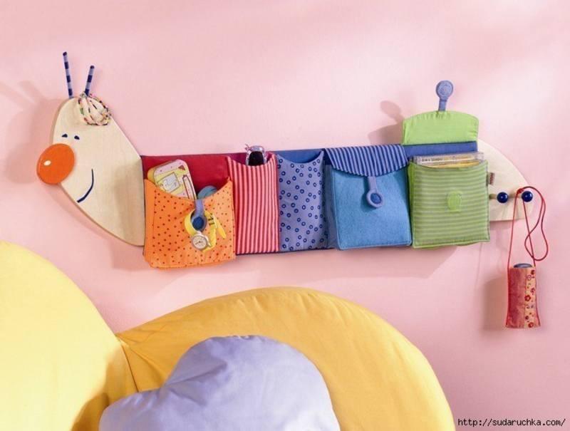 Органайзер из ткани для игрушек
