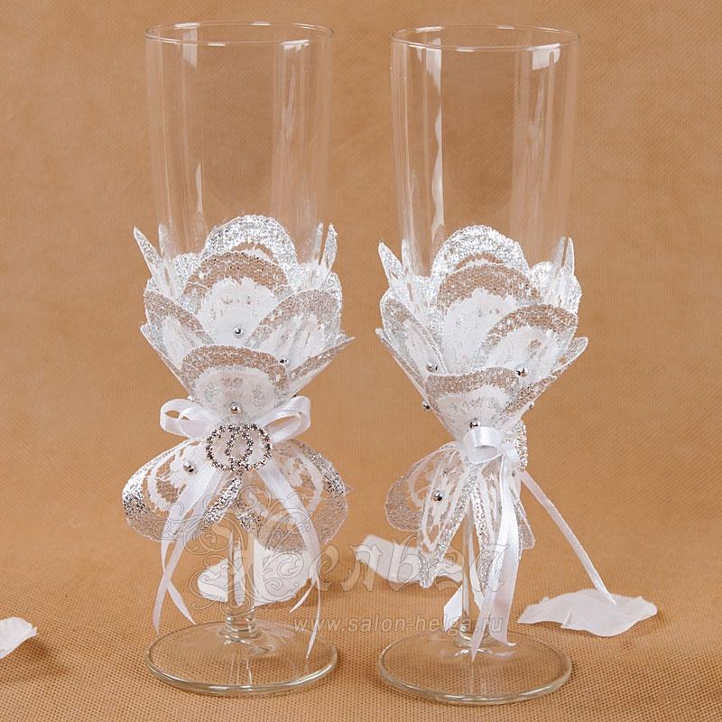 Свадебные бокалы.украсить