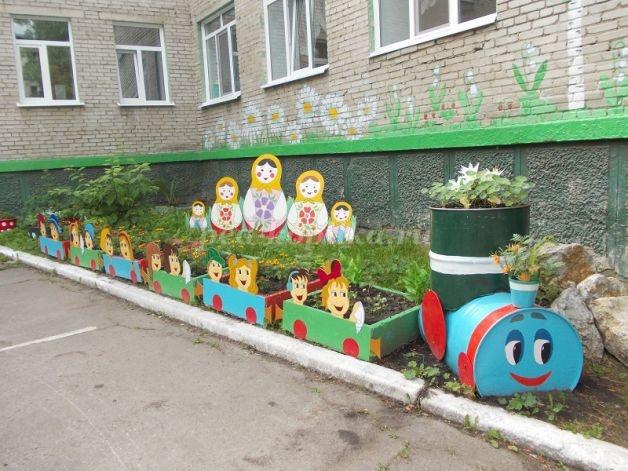 Цветники в детском саду