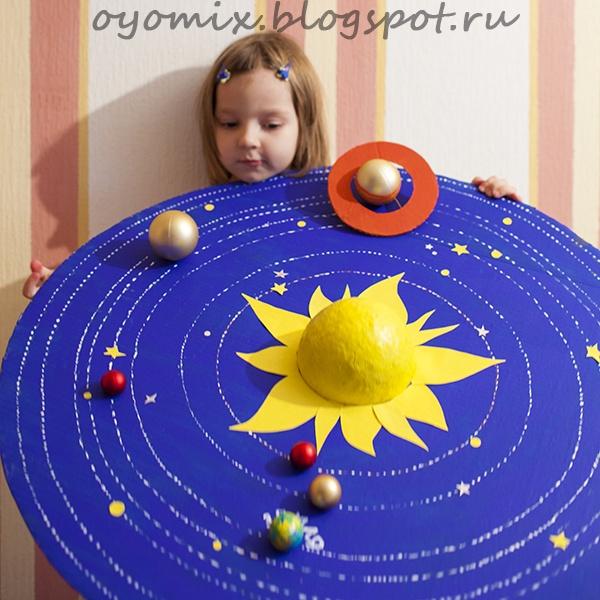 Как своими руками сделать макет солнечной системы