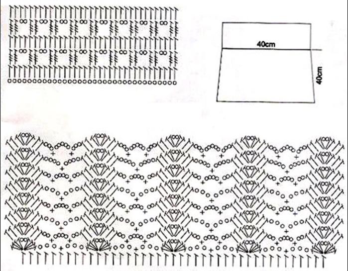 Вязание юбок крючком схемы и узоры