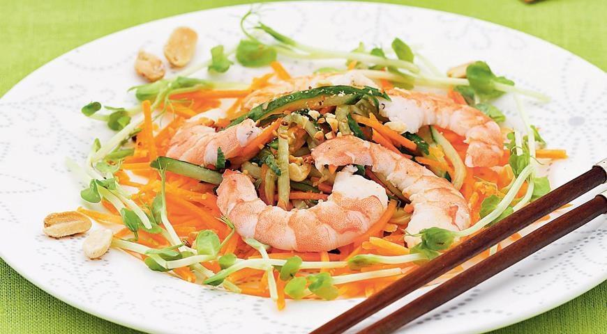 Салат китайский с мясом рецепт с пошагово