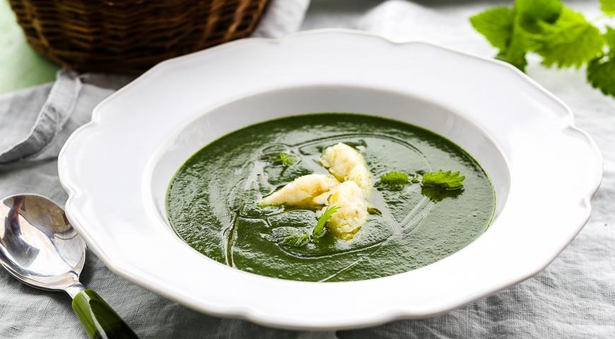 Суп из крапивы с клецками пошаговый рецепт с
