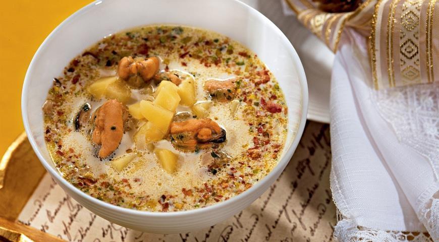 Простой супа с мидиями