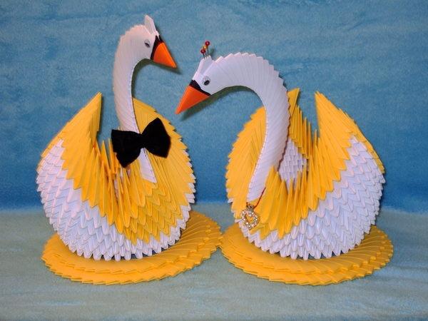 Поделки из бумаги лебедь