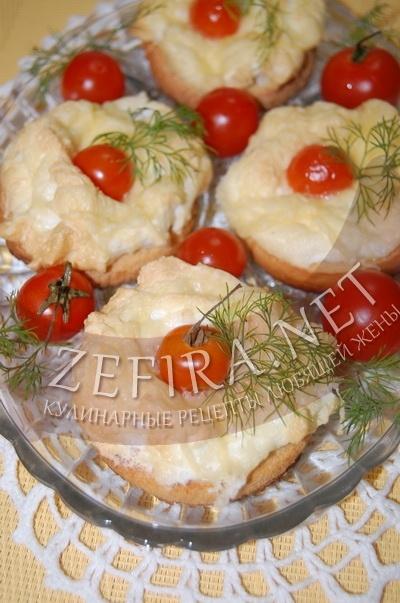 Рецепты горячих бутербродов с помидорами в духовке