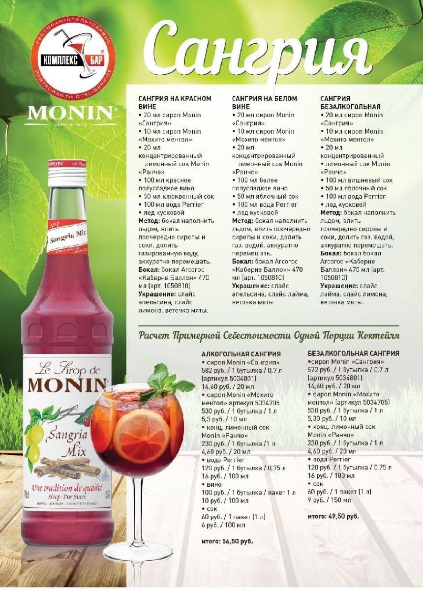 Рецепты алкогольных коктейлей сиропами