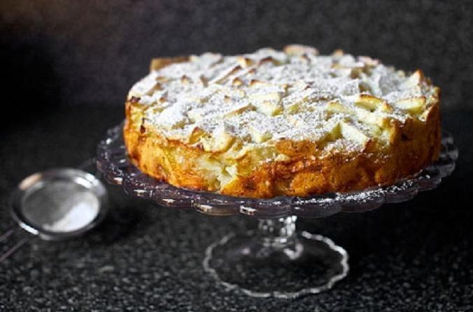 Постная шарлотка с яблоками рецепт с фото пошагово в духовке