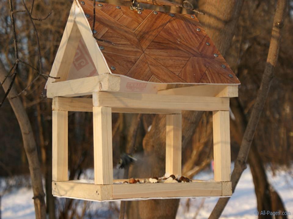 Кормушки для птиц своими руками фото простые