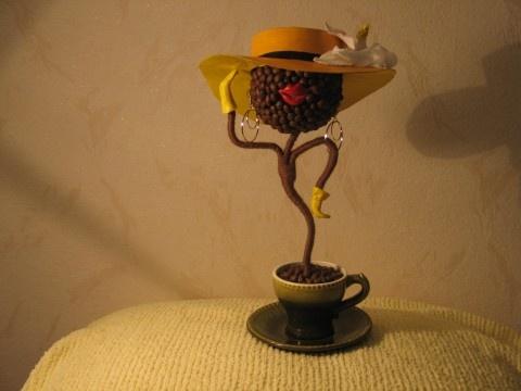 Поделки из кофе зерен фото