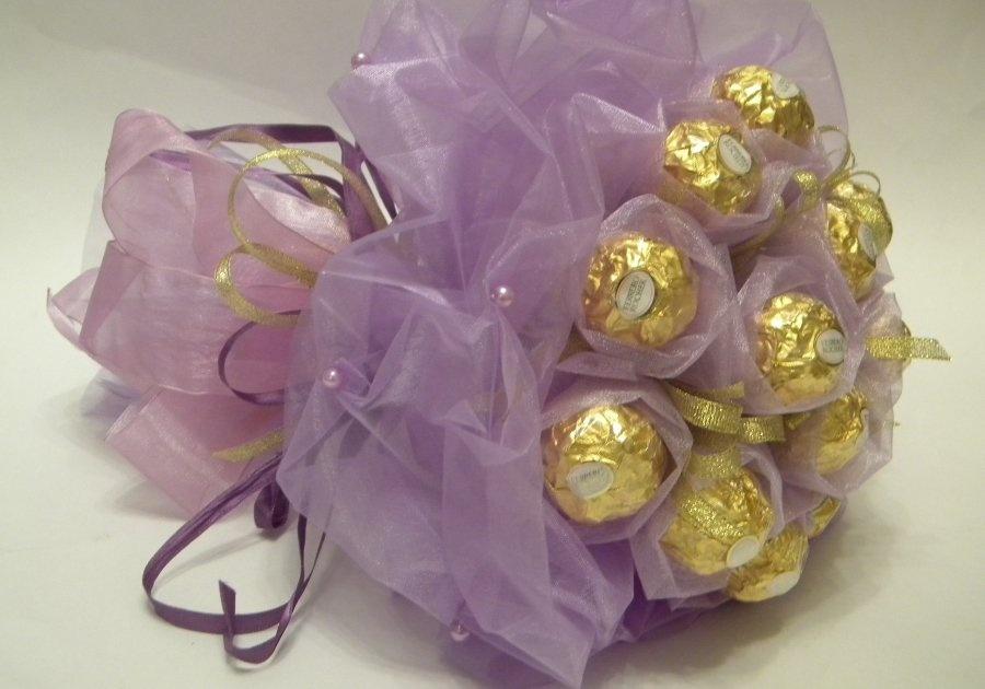 Сладкие букеты своими руками из конфет
